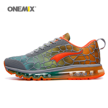 ONEMIX Men's Running Shoes big size Outdoor Sport Sneakers Breathable zapatillas hombre Lightweight jogging Shoes size 39-47