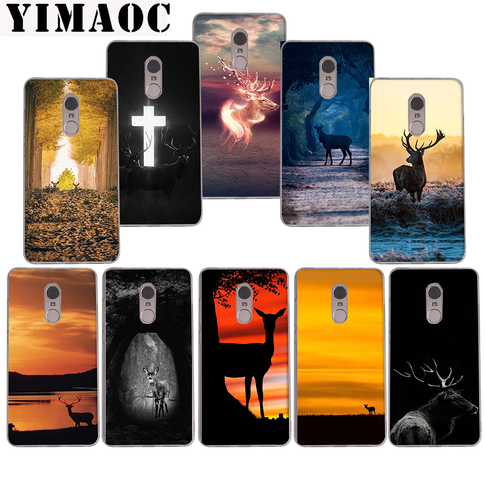 YIMAOC 147z Deer In The Forest Soft  Case for Xiaomi Mi a1 a2 f1 6  8 lite se mix 2s Redmi 5 6 6a  S2 Plus 5A Note 5 6 Pro 4 X