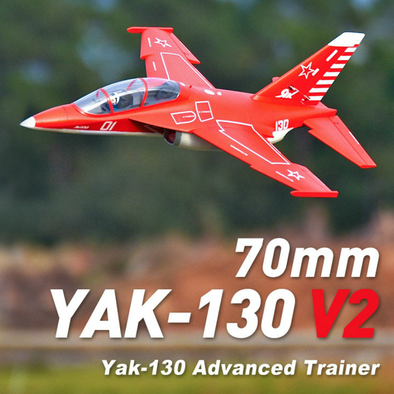 FMS 70mm Yak-130 Yak130 V2 Ducted Fan EDF Jet 6S 6CH With Flaps Retracts PNP EPO RC Airplane Model Plane Aircraft Avion NEW image