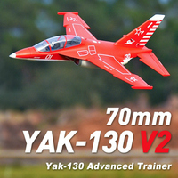 FMS 70mm Yak 130 Yak130 V2 Ducted Fan EDF Jet 6S 6CH With Flaps Retracts PNP EPO RC Airplane Model Plane Aircraft Avion NEW