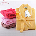 Women 100% cotton Robes Terry Soft Winter thicken warm nightdress Long sleeve sleepwear Women Pajamas Bath robes Pyjama Femme