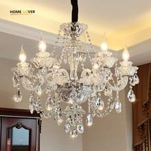 Nowoczesny Luksus LED Kryształowy Żyrandol Sufitowy Lustre de cristal Crystal ball Wisiorek Wiszące Lampy Domu Kuchnia Opraw Oświetleniowych