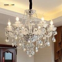 Modern Luxury LED Crystal Chandelier Ceiling Lustre de cristal Crystal ball Pendant Hanging Lamp Home Kitchen Lighting Fixtures