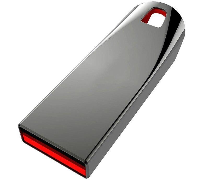 New Usb Flash Drive 128GB 64GB 32GB 16GB 8GB 4GB Pen Drive Pendrive Waterproof Metal Silver U Disk Memoria Cel Usb Stick Gift