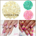 12 Colors/set Crushed Shell Chips Powder For Nails UV Acrylic Powder 3D Nail Art Decoration Nail Glitter Powder For Nails