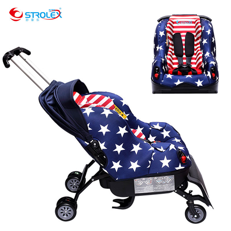 Sit on Stroll 5 In 1 Baby Car Seat Stroller Child Safety Seat Baby Car Booster Seat 0-4 Years Baby Sleepable Trolley Car Seat whole sale baby safety car seat 4 colors age range 2 10 years old baby car seat for kid active loading weight 9 30 kg baby seat