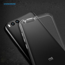 VOONGSON Ultra Thin Soft TPU Gel Original Transparent Case For Xiaomi Mi6 Mi 6 Crystal Clear Silicon Cover Phone Cases