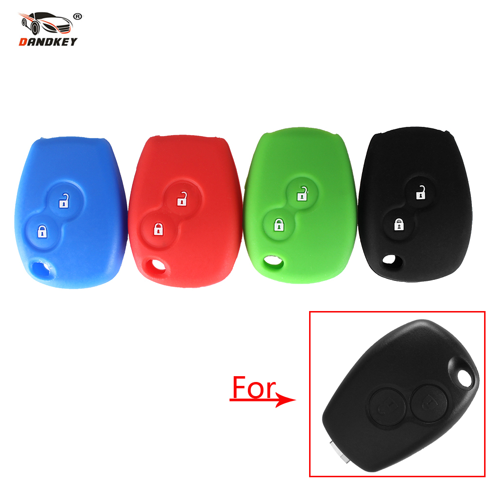 Dandkey Silicone Car Key Cover Case 3 Buttons For Renault Clio Scenic Megane Duster Sandero Captur Twingo Modus Car Remote Key