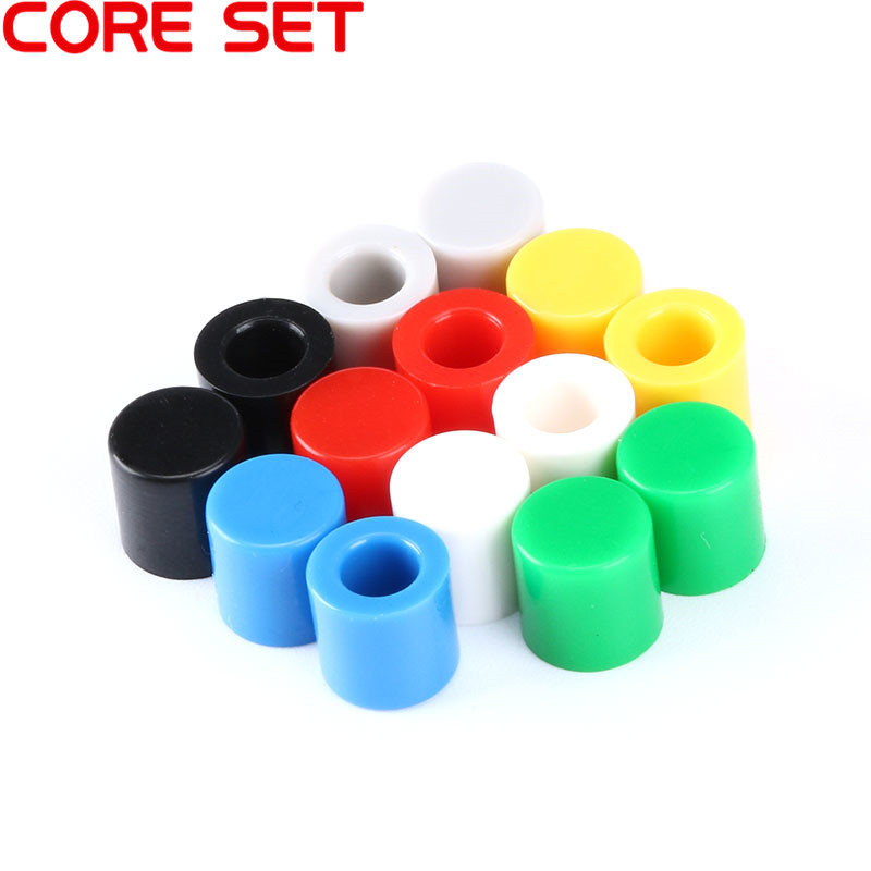 uxcell 20Pcs Plastic Pushbutton Tactile Switch Caps Cover Keycaps Red for 6x6x7.3mm Tact Switch