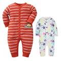 2016 newborn baby boys clothes long sleeved cotton jumpsuit climb clothes one piece jumpsuit infants girls pajamas sleepwear