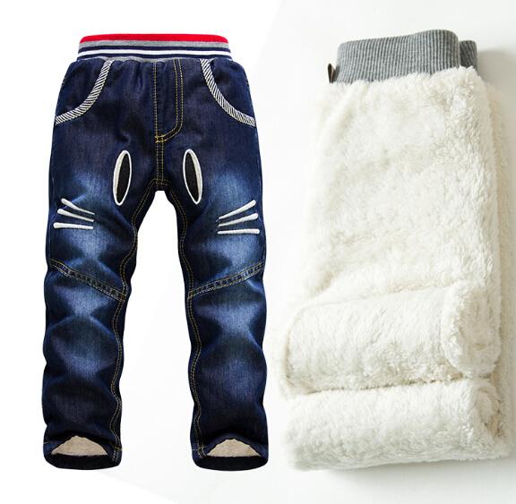SK066 Varejos 2014 nova marca kk-Coelho calças grossas de Detti inverno calças de algodão quente meninos/meninas de jeans inverno roupa dos miúdos