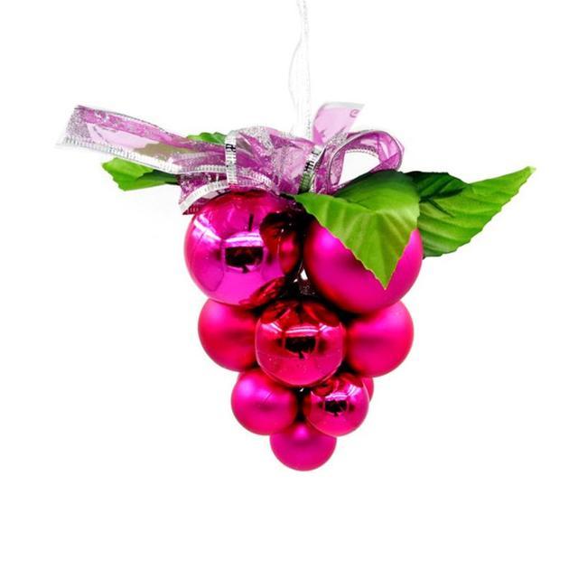 grape christmas ornaments christmas decorations for home tree hanging diy new year gift navidad party diy