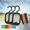 24+3 LED Flashlight  Work Light AAA Battery Powered Rotating Hanging Hook with Magnet for Fishing Hiking