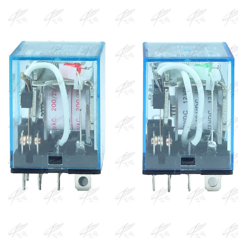 HH63P LY3 LY3NJ relais de JQX-13F 220 v 24 v 12 v 12 volts AC/DC 10A 11PIN argent contact dpdt rele électrique