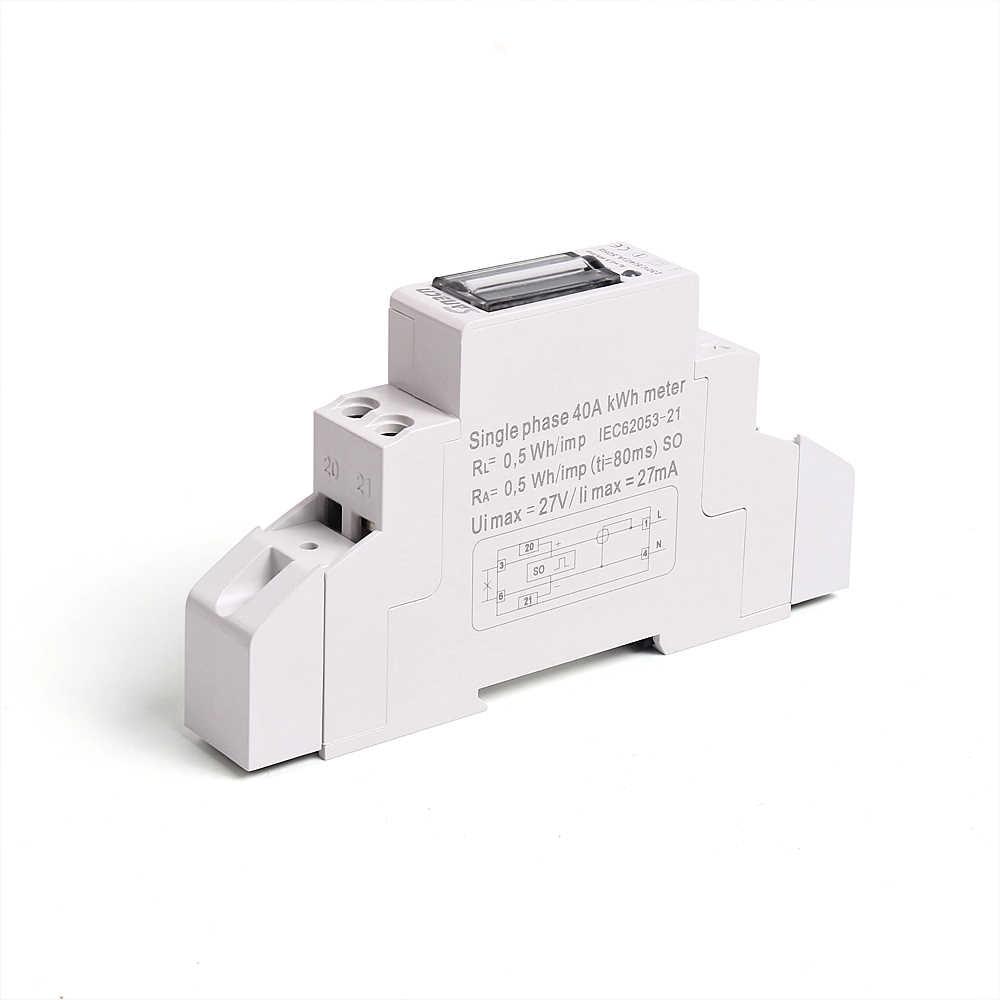 CE 承認カウンターディスプレイ 5 (40A) 230V 50Hz 110V 60Z ホーム単相 2 線式電力量計電力計 din 2 サイズオプション