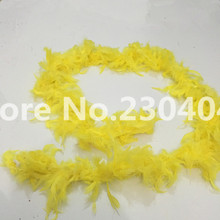 Beautiful yellow 2 meters long (38-40 grams) decoration feather garment accessories wedding DIY fire feather fire tablets