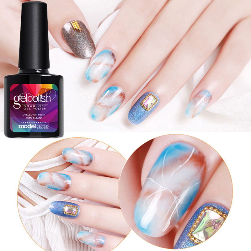Modelones 10ML Newest Blossom UV Gel Polish DIY Nail Art Design Blooming Flower Led In From Beauty Health