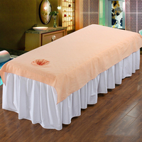 Beauty Massage SPA Treatment Bed Table Cover Sheet with Massager Pillow Cushion Washable