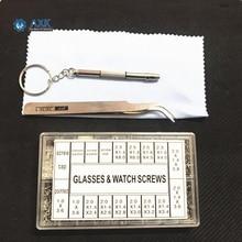 600/1000Pcs Screws Nuts Repair Kits 12 Kinds Stainless Steel Tiny Hex Assortment Kit + Screwdriver For Glasses Sunglass Watch недорого