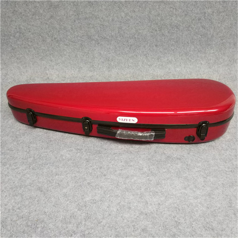 violin case 4/4 Wine red Glass fiber violin case new glass fiber 4 4 violin case light strong 122 pink color