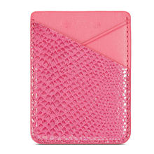 Credit Card Wallet Fashion Card Holder Stick-on Adhesive PU Leather Universal Portable Cell Phone Sticker Back Pocket Storage(China)