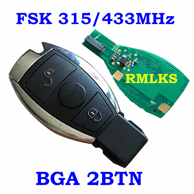Image 4 - RMLKS 2 3 4 Buttons Intelligent Smart Remote Key 315MHz 433MHz Car Auto Fit For Mercedes Benz 2000+ NEC BGA Type Remote Key Fob-in Car Key from Automobiles & Motorcycles