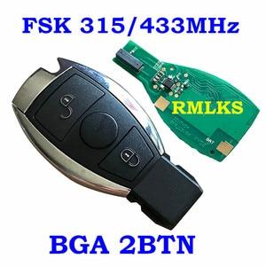 Image 4 - Smart Remote Key 315MHz 433MHz Auto Auto Fit Für Mercedes Benz 2000 + NEC BGA Typ Remote Key fob Für MB Mit Emeregcny Schlüssel Klinge