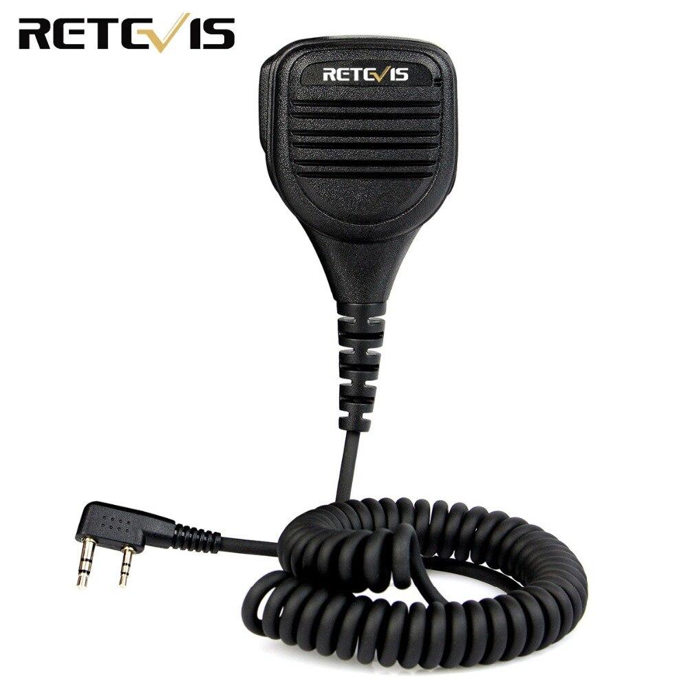 Retevis 2 Pin Fernbedienung Lautsprecher Mic für Kenwood Retevis H777 RT22 RT3/RT81 TYT Baofeng UV-5R 2 Weg Radio walkie Talkie C9050A