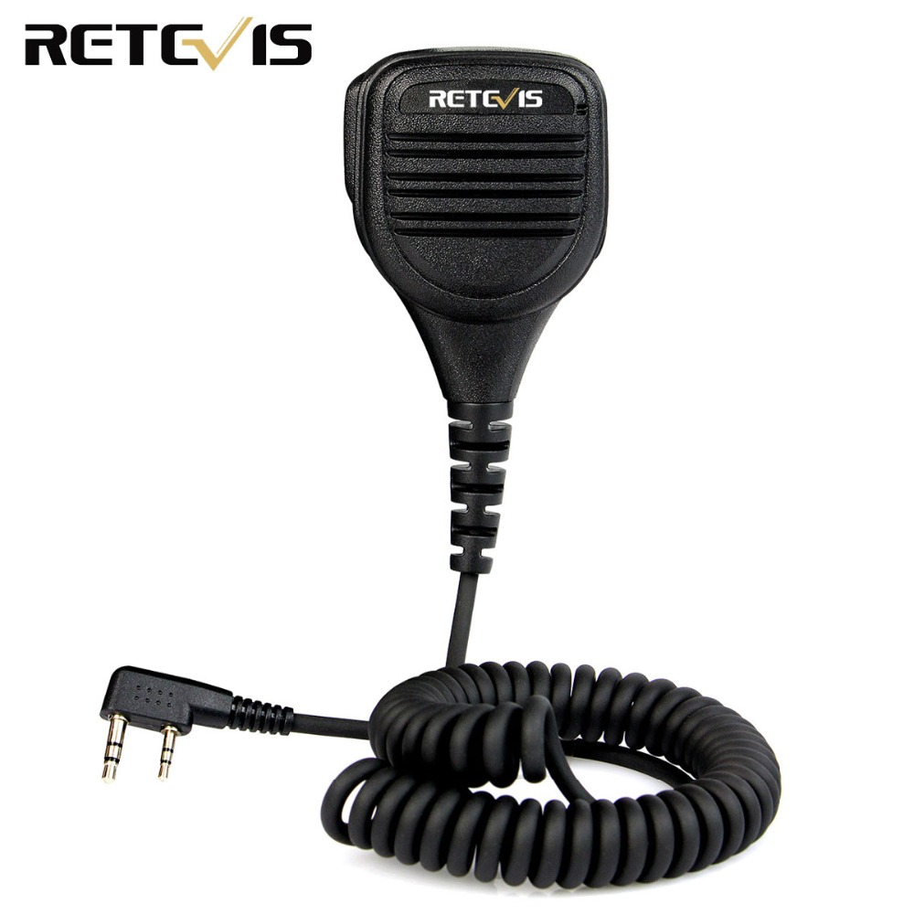 Retevis 2 Pin Remote Speaker Mic For Kenwood Retevis H777 RT22 RT3/RT81 TYT Baofeng UV-5R 2 Way Radio Walkie Talkie C9050A