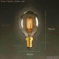 Bombilla Edison E14 Vintage, lámpara Retro de 40W y 220V, decoración, 2 uds.