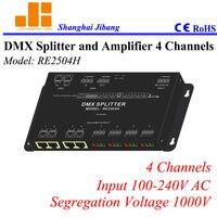 Бесплатная доставка 4 канала DMX распределитель сигнала, от одного до четырех канальный сплиттер, (другие модели от 1 до 2, от 1 до 8) pn: RE2504H