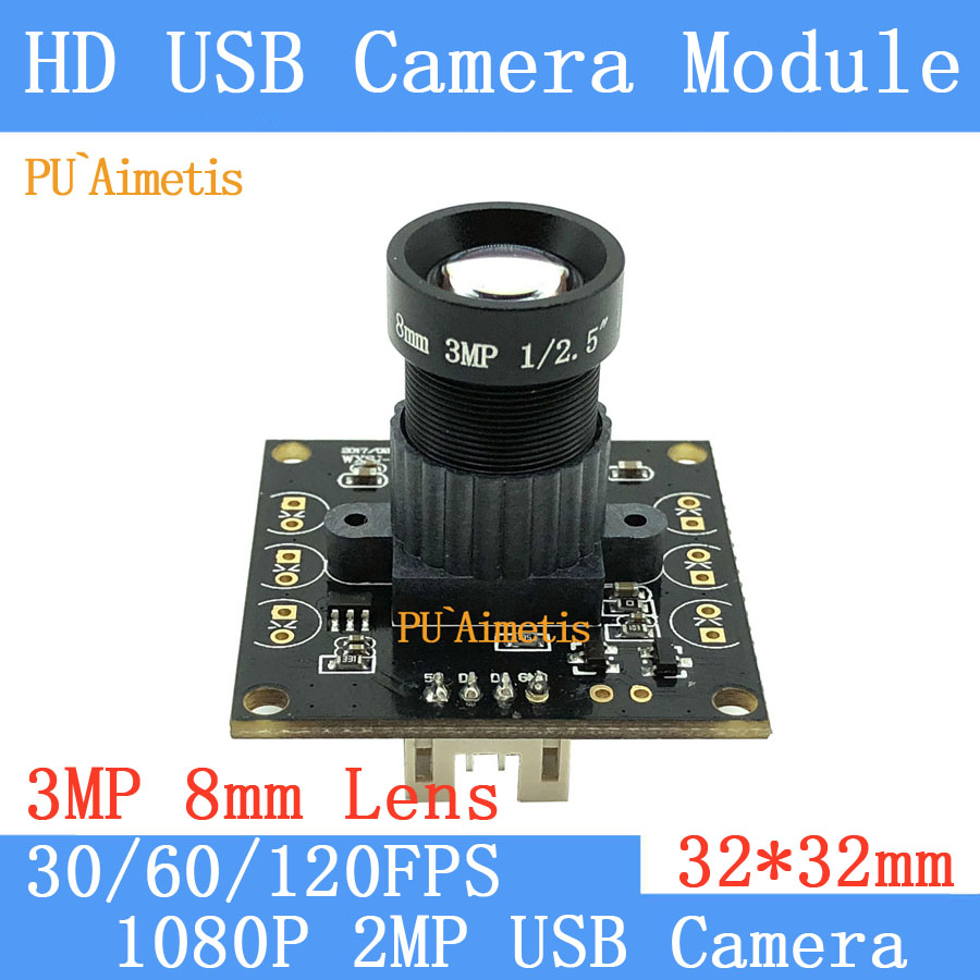 Surveillance camera 1920*1080P 3MP 8mm LENS MJPEG 30/60/120fps High Speed Mini CCTV Android Linux UVC Webcam USB Camera Module
