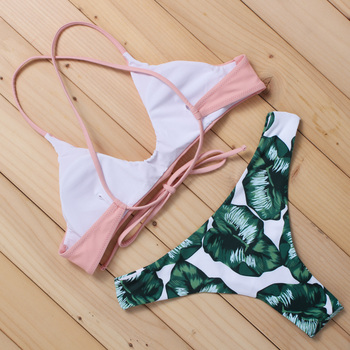 BANDEN new manufacturer bikini set solid vintage swimwear brasil bottom top swimsuit Zabra Competitive High End Brand AD008 2
