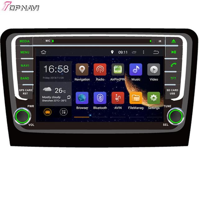 8 ''Frete Grátis Quad Core Android 5.1 Do GPS Do Carro Para SKODA Rapid 2013-Com Multimídia Rádio Audio Video 16 GB Flash Espelho Link