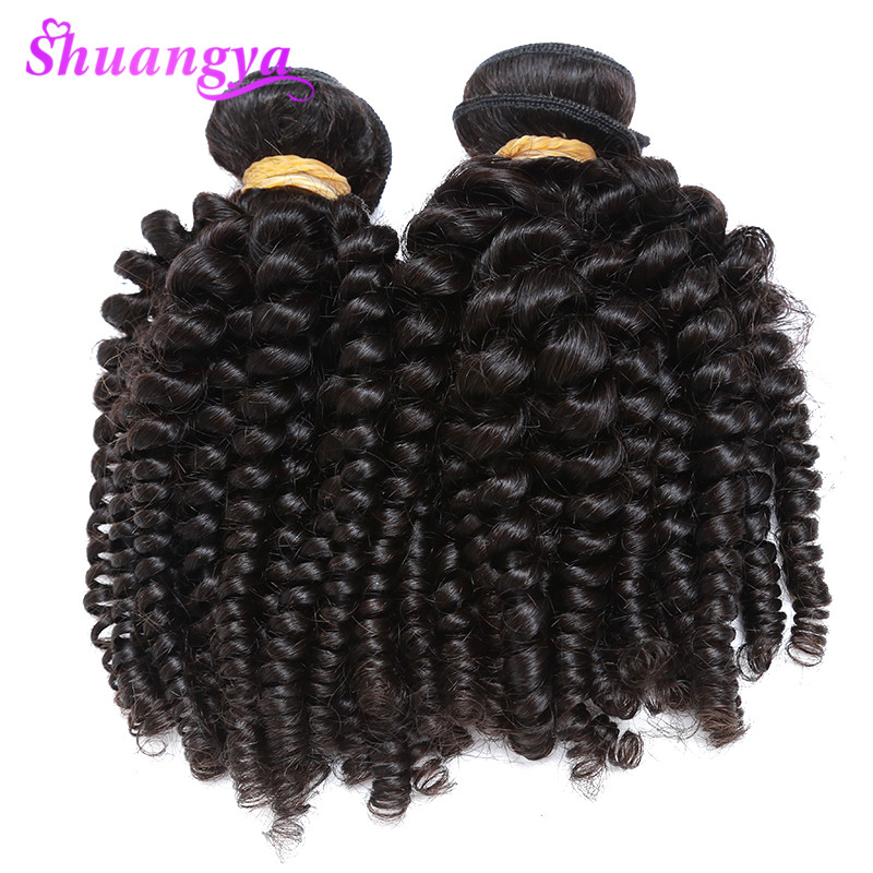 Image 4 - Peruvian Bouncy Curly Human Hair Weaves 3 Bundles Funmi Hair Extensions Remy 100% Human Hair Bundles  Can Be Dyed And Bleached-in 3/4 Bundles from Hair Extensions & Wigs