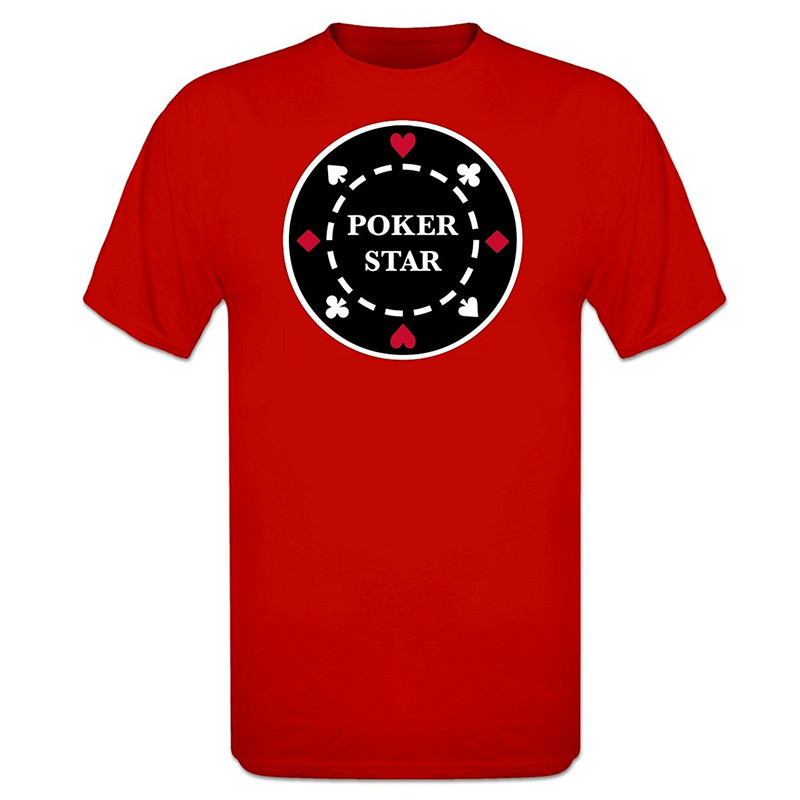 T Shirt Top Crew Neck Poker Star Chip Short Premium Tee Shirts For Men