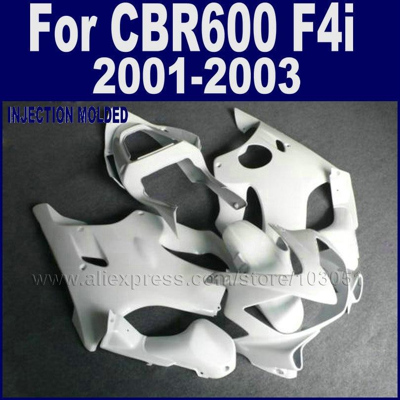 Customize Injection molding fairings kit for Honda 2001 2002 2003 CBR 600 F4i 01 02 03 cbr 600 f4i all white fairing set bodywor