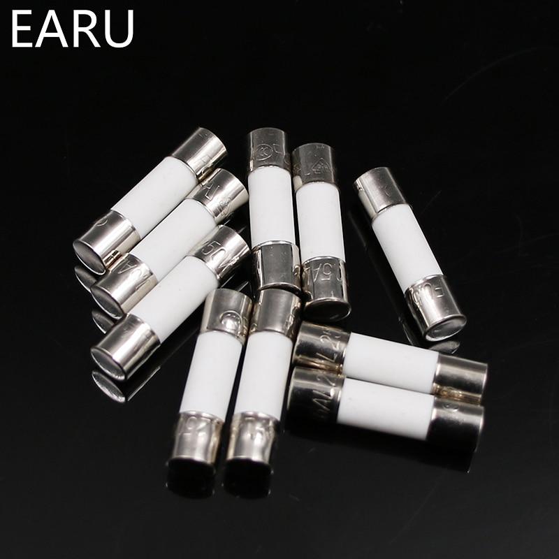 20Pcs 6x30mm 250V 15A Fast Blow Type Glass Tube Fuses CJ