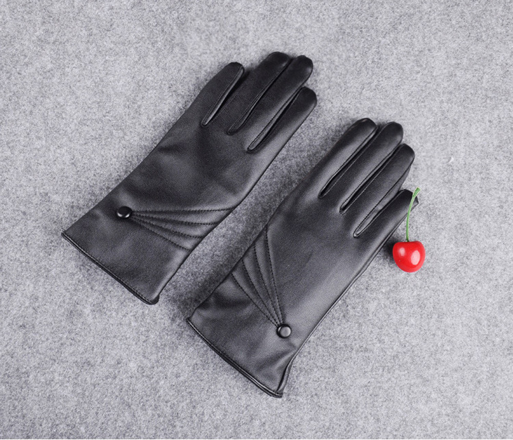 2019 New Luxurious Women Girl Leather Winter Super Warm Gloves Cashmere With touch screen function Drop shopping #30