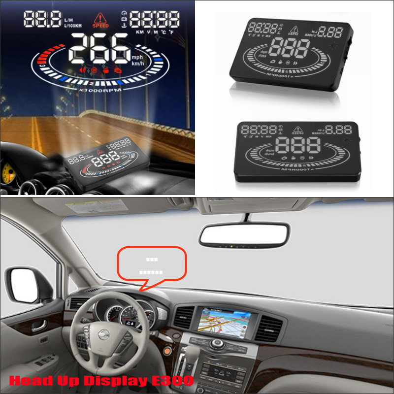 For Nissan Quest / Rogue / Sentra 2015 2016 Car Head Up Display Saft Driving Screen Projector - Refkecting Windshield rastp m9 hud 5 5 inch head up windscreen projector obd2 euobd car driving data display speed rpm fuel consumption rs hud011