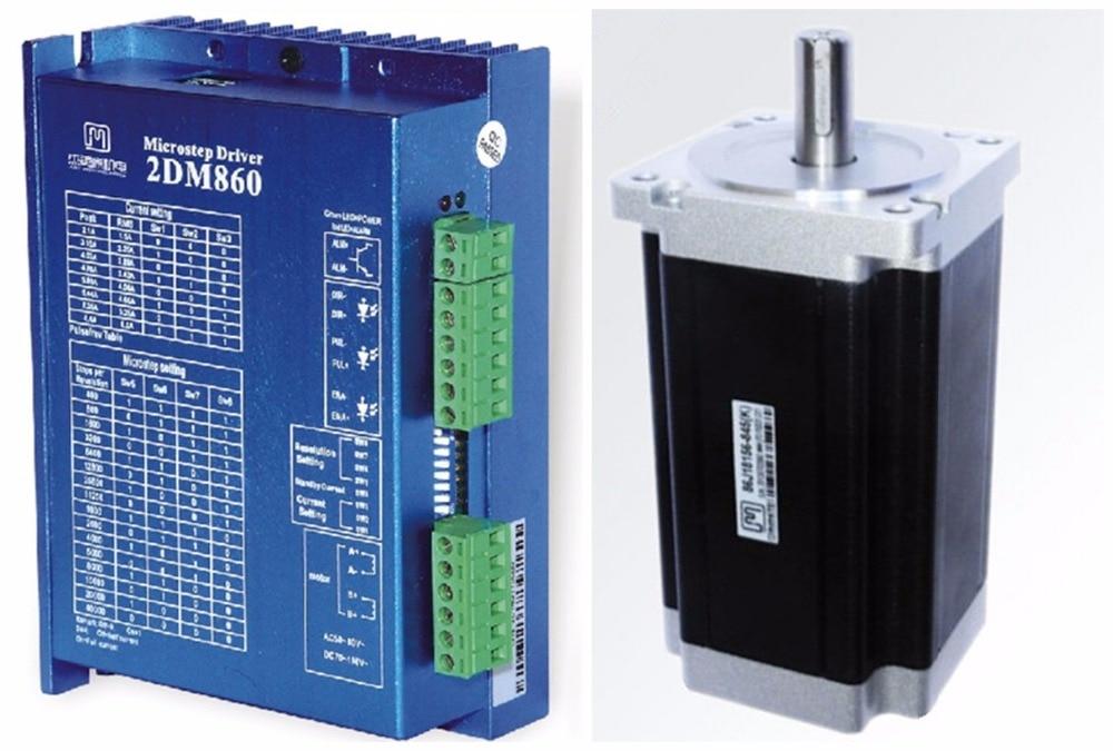 NEMA34 12Nm 1700ozin Hybrid stepper motor driver kit 2phase 30-80VDC for CNC engraving cutting 86J18156-845+2DM860 original 2 phase cnc stepper motor driver ykc2405m
