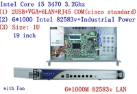 Сервер сетевой безопасности 1U межсетевой экран ПК с Intel B75 чипсет i5 3470 3,2 ГГц procesador маршрутизатор брандмауэра con 6*1000 м 82583 В