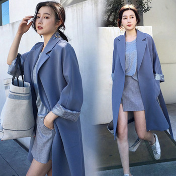 3eaa334e9793 Moda V cuello ajustado vendaje largo Blazer mujer sólido azul manga  completa abrigo vestido vacaciones 2018 chaqueta trajes otoño