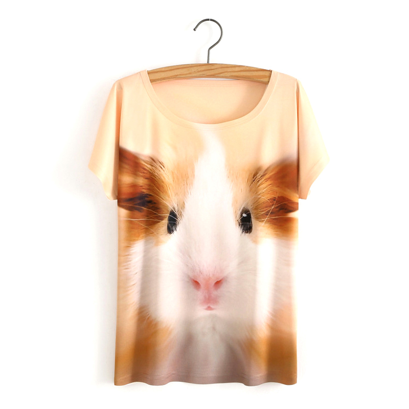 HTB1YqeEOVXXXXb.aFXXq6xXFXXX0 - White Tiger 3D Print T-Shirt Women Summer Clothes