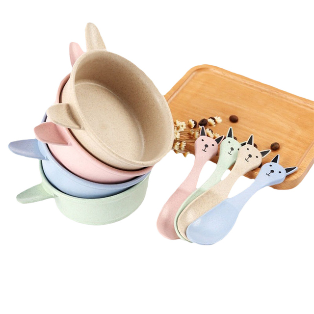 Wheat Straw Cartoon Cat Bowl Kids Soup Bowl Creative Environmental Dinnerware Set Colorful Rice Bowl Christmas  sc 1 st  AliExpress.com & Wheat Straw Cartoon Cat Bowl Kids Soup Bowl Creative Environmental ...