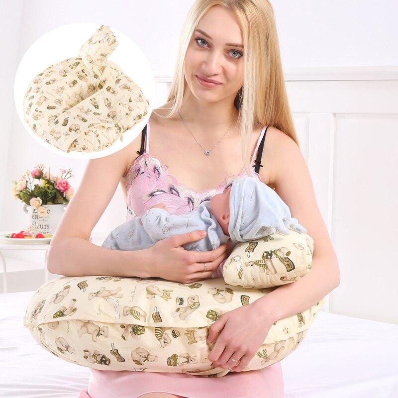 100% Katoen Draagbare Verpleging Kussen Baby Multifunctionele Baby Voedingskussen Borst Pad Taille Studie Kussen Borstvoeding Artefact Om Een Hoge Bewondering Te Winnen