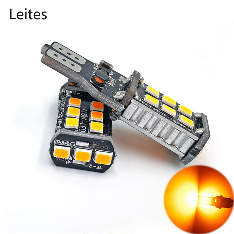 Leites 2pcs Extremely Bright Error Free 921 912 W16W 2835 Chipsets LED Bulbs For Backup Reverse Lights Xenon White/ Red/ Amber 6pcs extremely bright error free t15 led bulb 921 912 t15 wedge w16w led canbus bulbs stop backup reverse lights white 6000k 12v