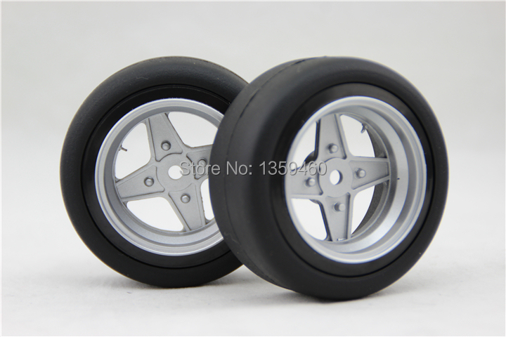 Fine New Design 4pcs Rc1/10 High Speed Drift Tires Tyre Wheel Rim 10style 6mm Offset Fits For 1:10 Drift Car Promoting Health And Curing Diseases painting Silver