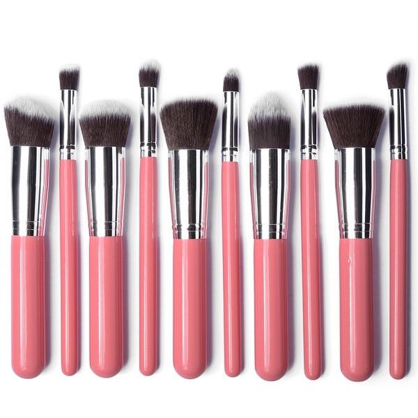 Wholesale 10PCS Professional Makeup Brushes Set Pro Kits Kabuki Makeup Cosmetics Brush Tools 20SET LOT PINK BY DHL Freeg-in Eye Shadow Applicator from ...