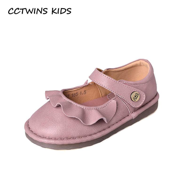 Çocuk Ayakkabı 2019 Sonbahar Kız Prenses Parti siyah ayakkabı Bebek Pembe Flats Çocuk Ruffles Mary Jane Toddler Tatlı Daireler GM2393